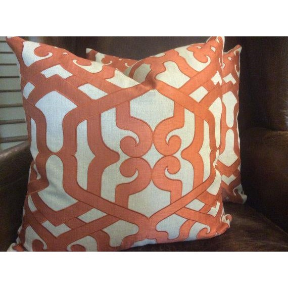 "Contemporary Kravet Couture ""Modern Elegance"" Pillows - a Pair For Sale - Image 3 of 5"