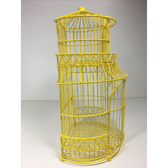Canary Yellow Chinoiserie Birdcage - Image 6 of 7