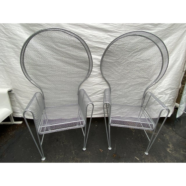 Pair of High Back Outdoor Canopy Chairs by Russell Woodard For Sale - Image 12 of 12