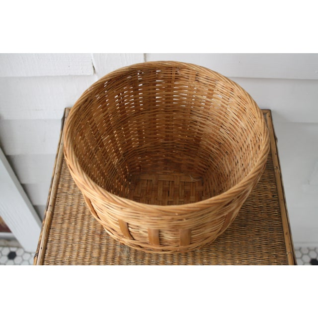 Vintage Woven Wicker Basket For Sale - Image 9 of 10