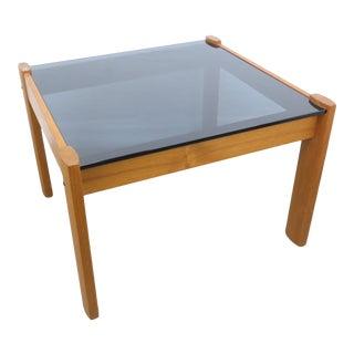 1970s Ekornes Amigo Norwegian Teak and Smoked Glass Coffee / Side Table For Sale