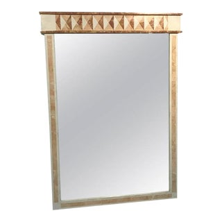 Magnificent Tessellated Marble Wall Mirror by Maitland Smith For Sale