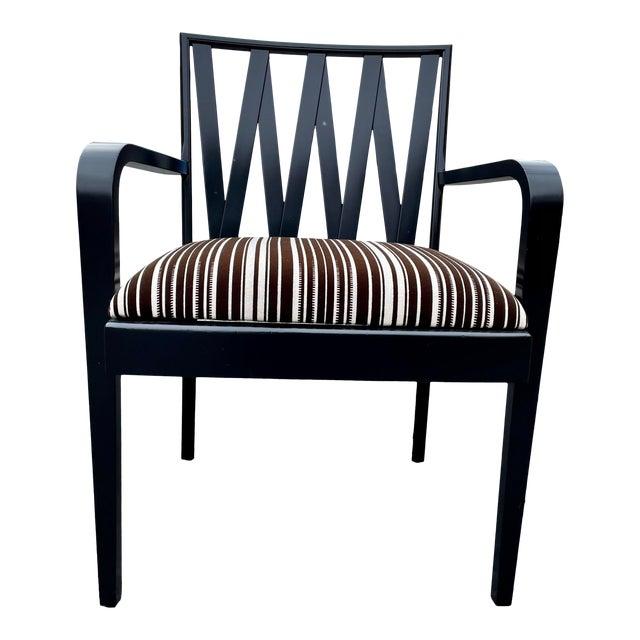Paul Frankl for Johnson Furniture Zig Zag Armchair 1950s For Sale