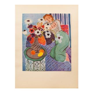 "Henri Matisse Original ""Blue Odalisque"" Swiss Period Lithograph, C. 1940s For Sale"