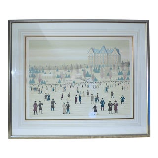 "1980s ""Skating in Central Park"" Artist Proof Lithograph by Fanch Ledan, Framed For Sale"