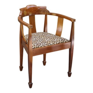 English Antique Fruitwood Corner Chair