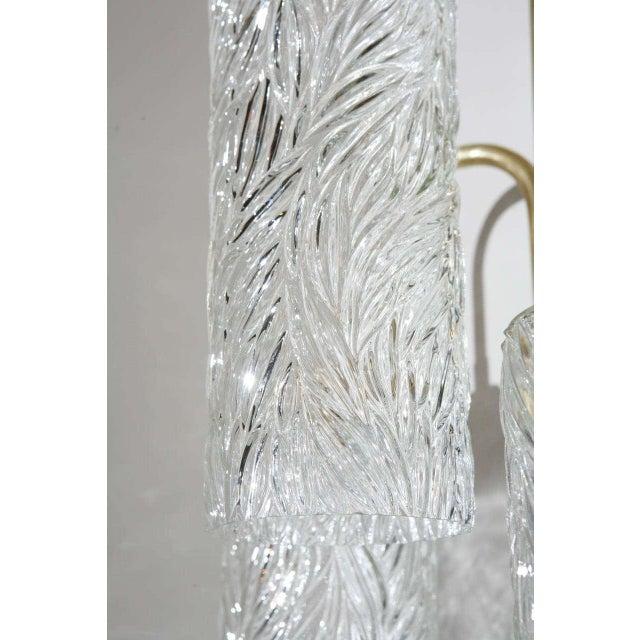 2010s Vintage German Glass Brass Sconce For Sale - Image 5 of 6