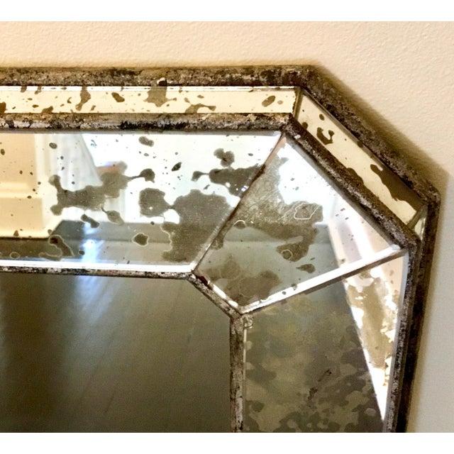 Art Deco 1930s Art Deco Silver Leaf Eglomisé Mirror For Sale - Image 3 of 6
