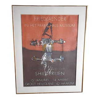 Vintage Mid 20th C. Abstract Color Lithograph-Johnny Friedlander For Sale
