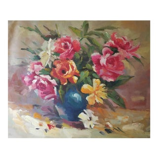Impressionist Flower Oil Painting For Sale
