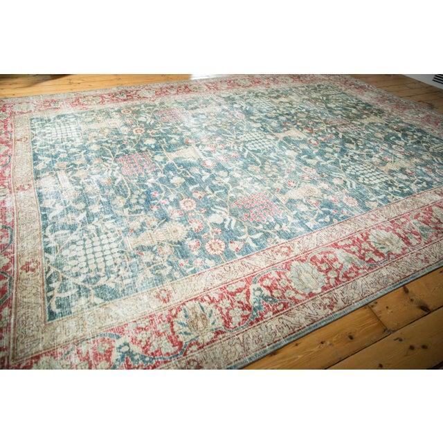 """Boho Chic Vintage Distressed Tabriz Carpet - 8'1"""" X 11'4"""" For Sale - Image 3 of 13"""