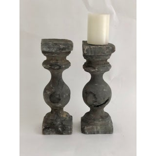 French Baluster Pillar Candleholders - a Pair Preview