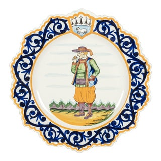 Henriot Quimper Faience Plate For Sale