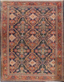 Image of Navy Blue Traditional Handmade Rugs