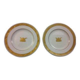 Minton South Africa Old Coat of Arms Dessert Salad Plates - a Pair For Sale