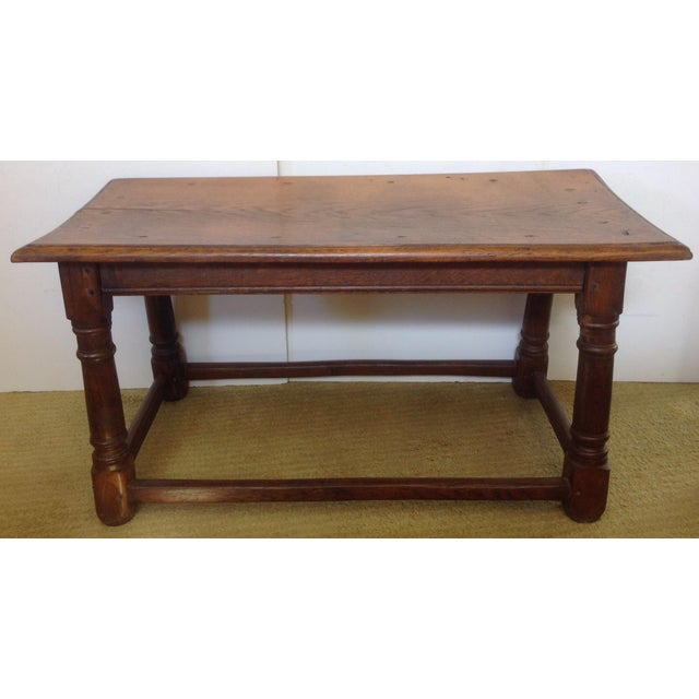 Beautiful 19th century table can also be used as a bench at the end of the bed or under a window. Great to pull up as...