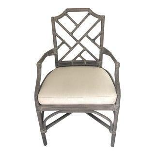 Palecek Gray Finish Arm Chair