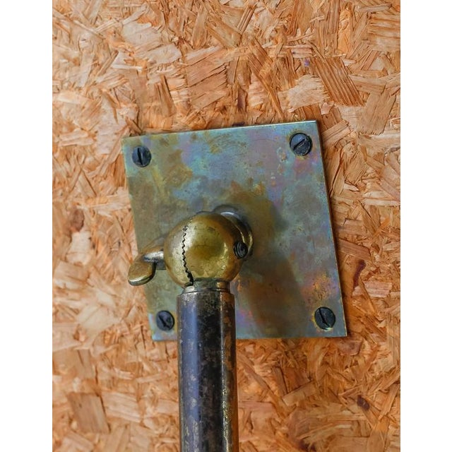 Brass Brass console mirror on tripod foot, Germany, 1950s For Sale - Image 7 of 7