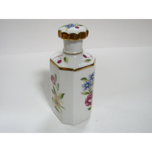 Victorian Antique Hand Painted Floral German Perfume Bottle / Decanter For Sale - Image 3 of 6