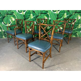 Set of Six Chinese Chippendale Bamboo Dining Chairs Preview