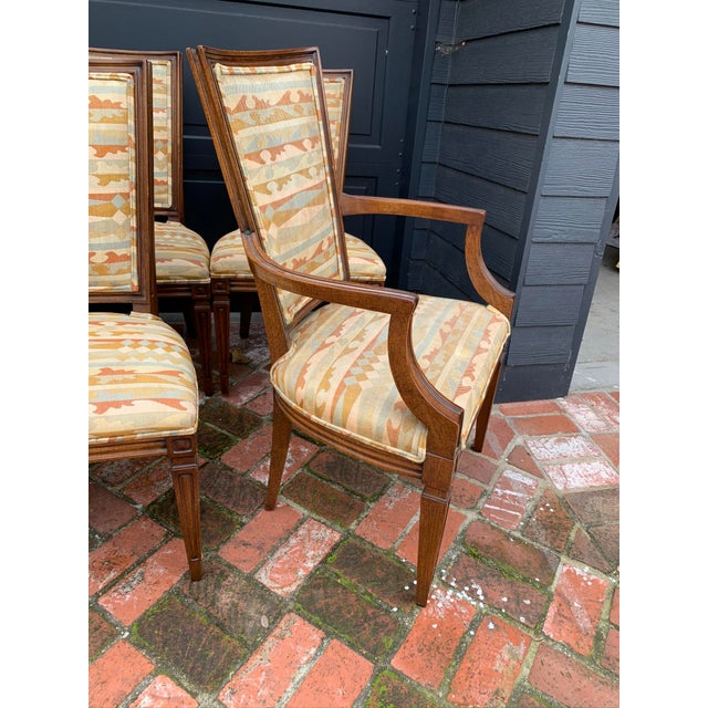 French Classic Vintage Louis Dining Chairs - Set of 8 For Sale - Image 3 of 11