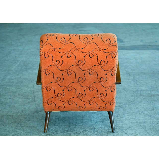 Wood Paolo Buffa Style Midcentury Italian Lounge Chair For Sale - Image 7 of 9