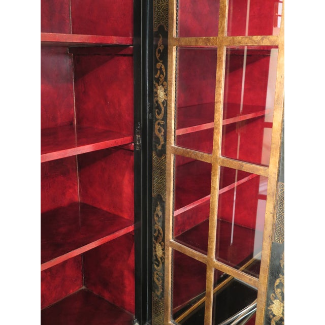 1980s Chinoiserie Decorated 4 Door Breakfront Bookcase For Sale - Image 11 of 13