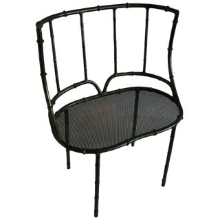 Iron Faux Bamboo Settee For Sale