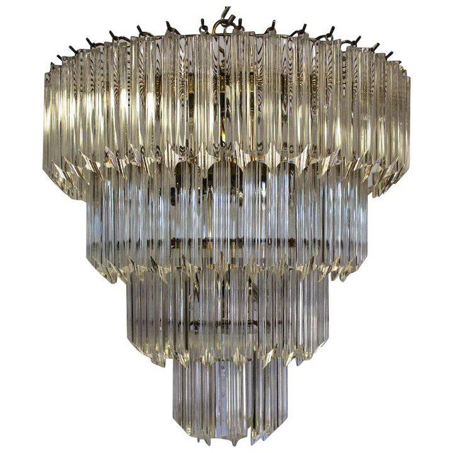 Plastic 1960's Lucite Cascading Chandelier For Sale - Image 7 of 7