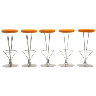 Five Barstools Designed by Piet Hein for Fritz Hansen, Beautifully Restored For Sale