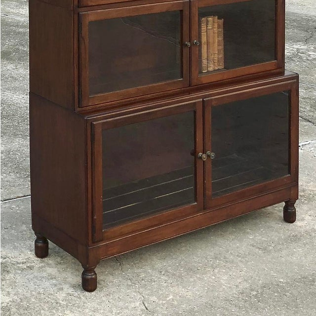 Antique English Mahogany Bookcase ~ File Cabinet For Sale - Image 9 of 12