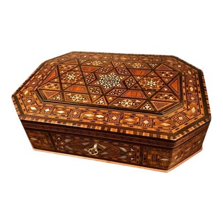 Anglo Indian Rosewood and Mother of Pearl Inlaid Box For Sale