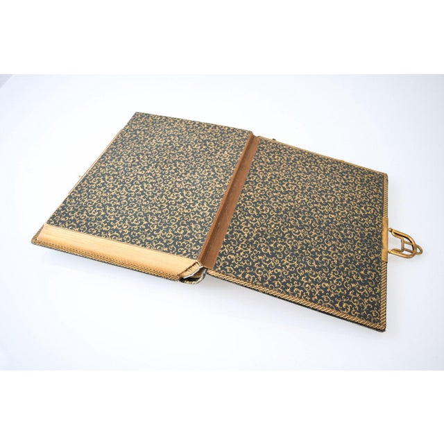 Antique English Victorian Photo Album with Brass Clasp, 1890s For Sale In Detroit - Image 6 of 6