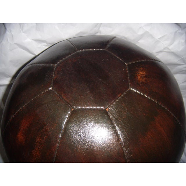 English 20 Lb. Leather Medicine Ball - Image 3 of 4