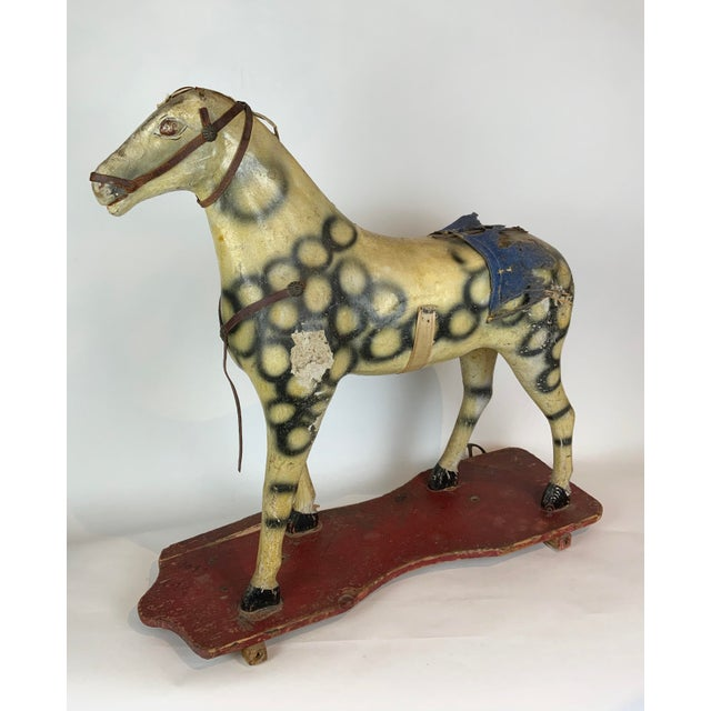 Late 19th Century Late 19th Century Painted Toy Horse For Sale - Image 5 of 13
