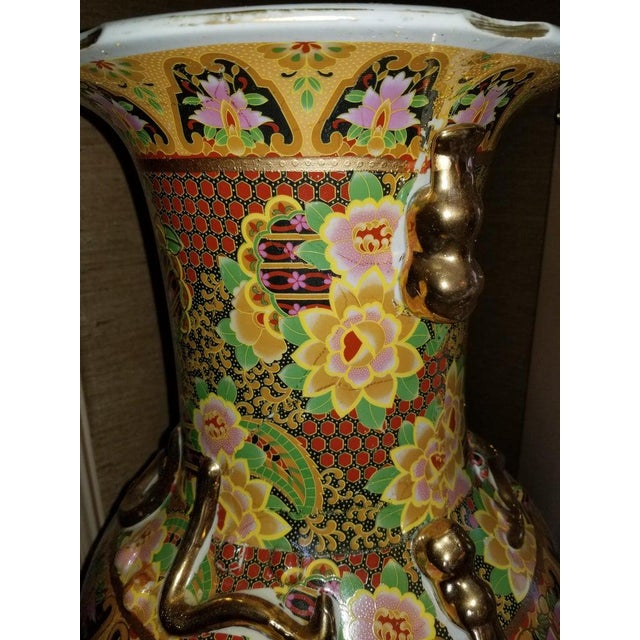 Tall Chinese Vases with Decorative Scenes, 20th Century - A Pair For Sale - Image 12 of 13