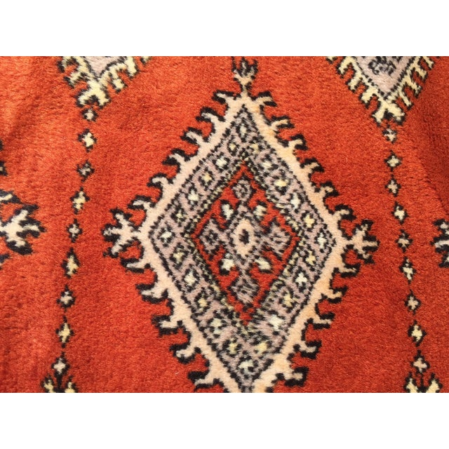 Red Red Rust/Cream Royal Bokhara Rug - 8′3″ × 11′3″ For Sale - Image 8 of 11