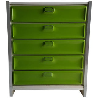 Pop Modernist Plastic Front Chest of Drawers in the Manner of Raymond Loewy For Sale