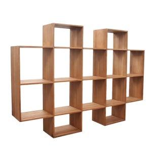 Modernist Custom Mahogany Shelf For Sale