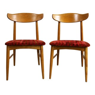 Mid Century Modern Birchcraft Danish Style Side Chairs by Baumritter - A Pair For Sale