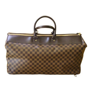 Louis Vuitton Ebene Damier Canvas Large Travel Bag For Sale