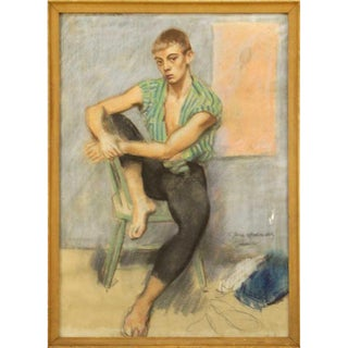 1940s Vito Tomasello Pastel Painting For Sale