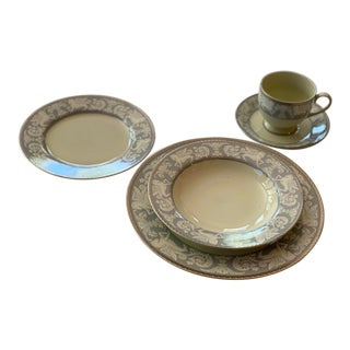 Mikasa China Gothic Crest Japan Dinnerware - Service for 4 For Sale