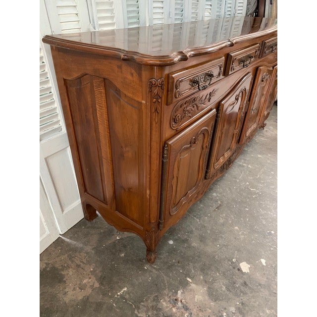 Brown 19th Century Louis XV Style Enfilade Buffet For Sale - Image 8 of 12