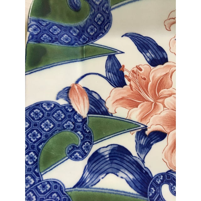 Asian 20th Century Japanese Toyo Serving Platter in Orchid Motif For Sale - Image 3 of 9