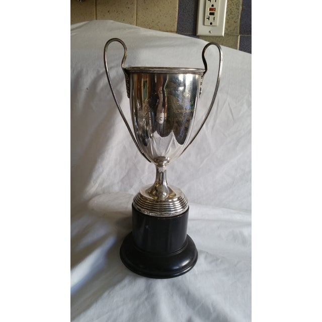 Large Silver Horse Riding Trophy - Image 2 of 4