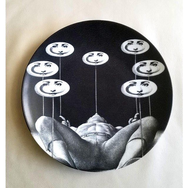 Fornasetti Tema E Variazioni Plate, Number 193, The iconic image of Lina Cavalieri from Atelier Fornasetti. A variation of...