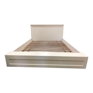 Outlook Full Bed Frame + Headboard in White For Sale