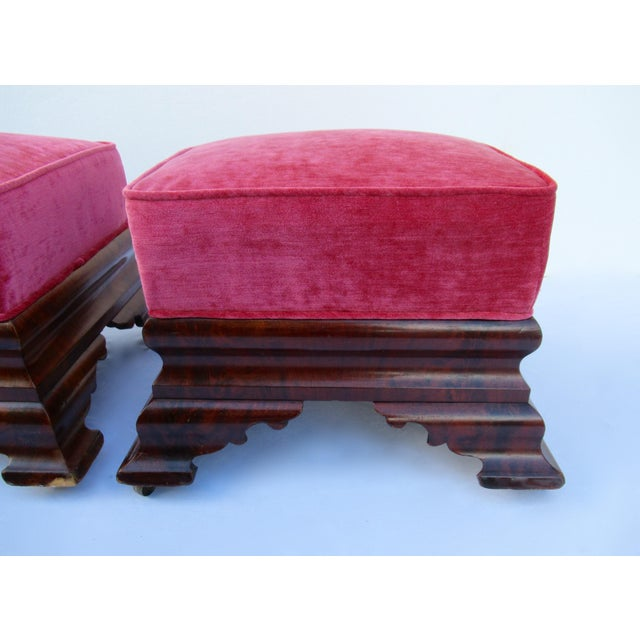 C.1840s-90s, Vintage Joseph Meeks & Sons Mahogany Ottomans - a Pair For Sale - Image 9 of 13