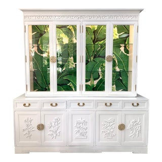Asian Chinoiserie China Cabinet by Ricardo Lynn For Sale
